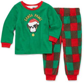 Buffalo David Bitton SLEEPY NITES Sleepy Nites Red and Green Check Family 2 Piece Pajama Set -Unisex Baby