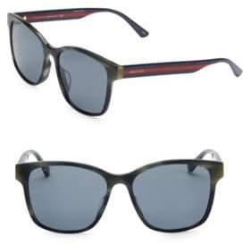 Gucci Men's 56MM Unisex Acetate Sunglasses - Havana