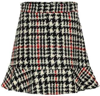 RED Valentino Check wool-blend miniskirt