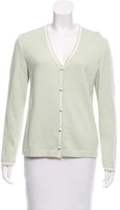 St. John Sport Long Sleeve Knit Cardigan