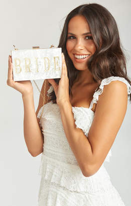Show Me Your Mumu Bride Acrylic Clutch ~ White Marble