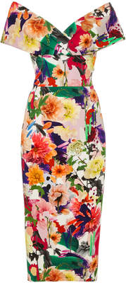 Cushnie et Ochs Alba Floral Collage Dress