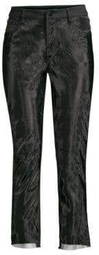 J Brand Ruby High-Rise Organza Cropped Cigarette Pants