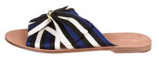 Diane von Furstenberg Fabric Slide Sandals