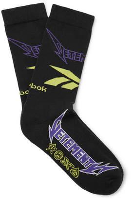 Vetements + Reebok Logo-Intarsia Cotton-Blend Socks