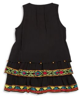 Hemant & Nandita Toddler's, Little Girl's & Girl's Sleeveless Tunic 2