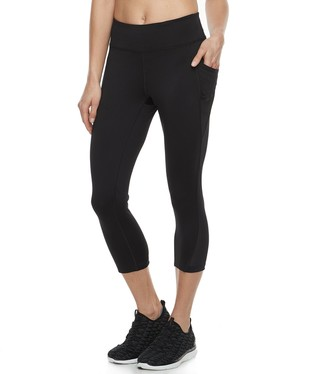 86c89099e4481 Tek Gear Women s Performance Side Pocket Capri Leggings