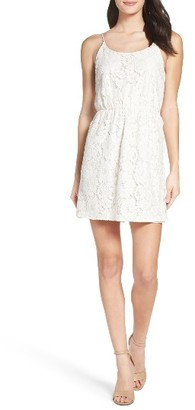 Women's Charles Henry Cami Lace Fit & Flare Dress $88 thestylecure.com