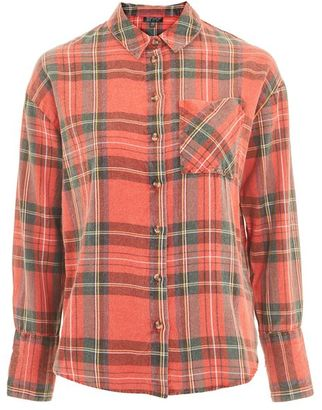 Topshop Washed tartan checked shirt