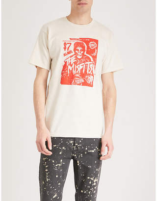 Obey x Misfits Show Flyer cotton-jersey T-shirt