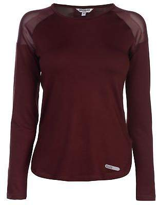 Soul Cal SoulCal Womens Deluxe Long Sleeve Mesh Top Crew Neck Shirt Lightweight Print