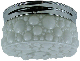 One Kings Lane Vintage Bubble Milk Glass Flush Mount - brunelli designs inc