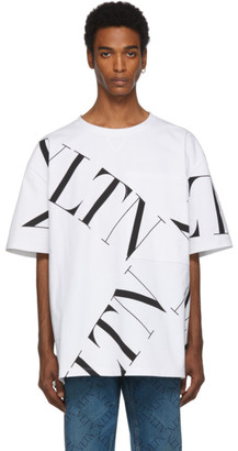 Valentino White VLTN Macrogrid T-Shirt