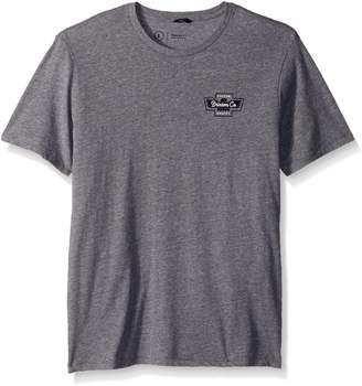 Brixton Men's Federal Short Sleeve Premium Fit Tee, Heather Grey, L