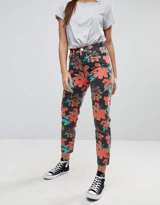 Asos Design ORIGINAL MOM Jeans in Washed Floral Print