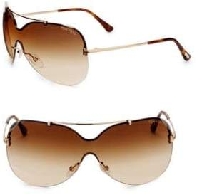 Tom Ford Ondria Mirrored Shield Sunglasses