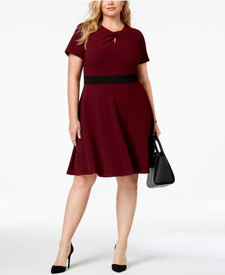Taylor Plus Size Twisted Fit & Flare Dress
