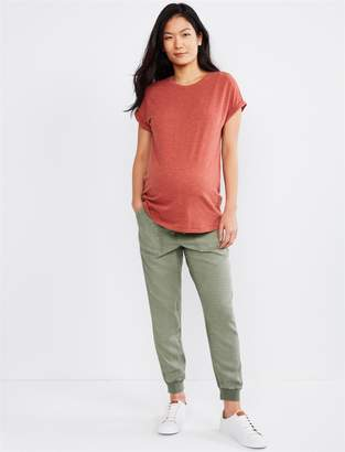 Splendid Pea Collection Under Belly Linen Maternity Jogger Pant