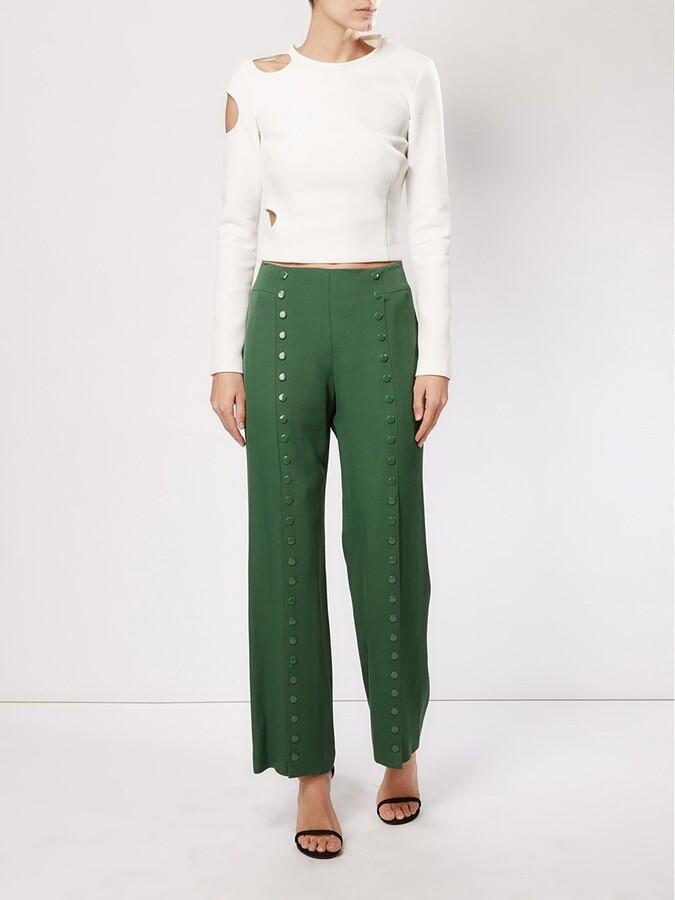 Rosie Assoulin studded wide leg trousers
