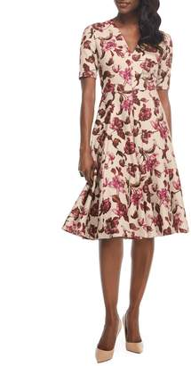 Gal Meets Glam Edith Floral Print A-Line Dress