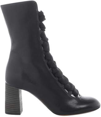 Chloé Leather lace up boots