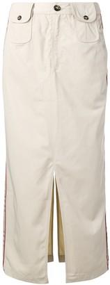 Andrea Crews straight-fit midi skirt
