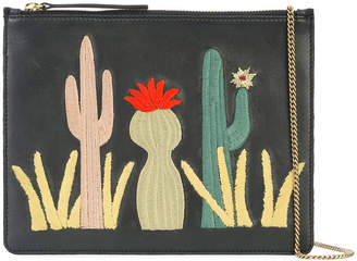 Lizzie Fortunato cactus patch clutch bag