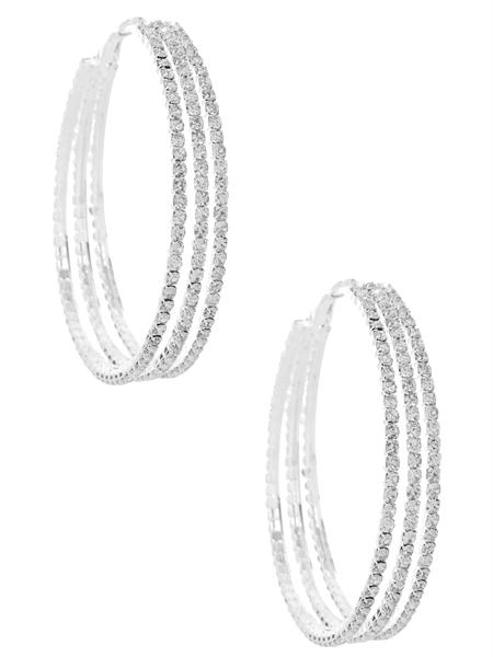 Pamela Pave Hoop Earrings