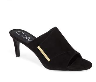 Calvin Klein Carine Genuine Calf Hair Mule