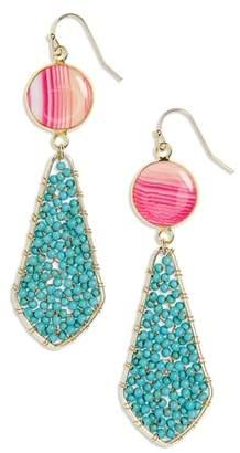 Panacea Stone Beaded Drop Earrings