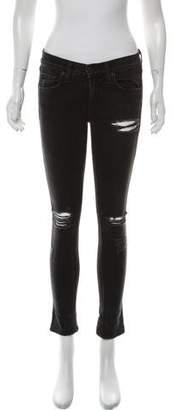 Rag & Bone Distressed Mid-Rise Jeans
