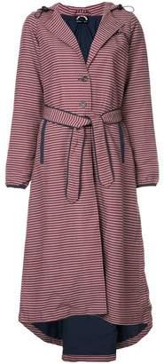 The Upside striped belted jacket