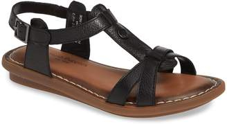 Hush Puppies R) Olive T-Strap Sandal