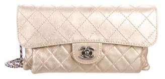 Chanel Paris-Dubai Metallic Calfskin Flap Bag
