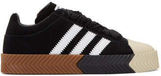 adidas by Alexander Wang Black Suede Skate Super Sneakers