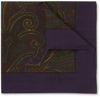 Polo Ralph Lauren Paisley-Print Wool Pocket Square
