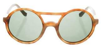 Linda Farrow The Row x Marbled Round Sunglasses