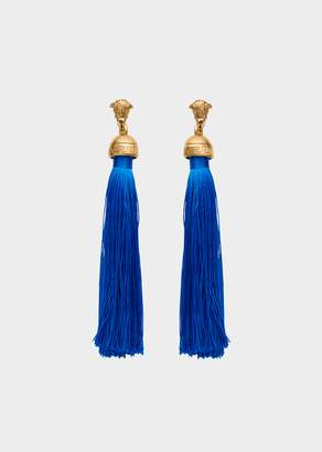 Versace Medusa Tassel Drop Earrings