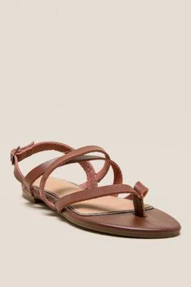 Dainty Strappy Gladiator Sandal - Brown