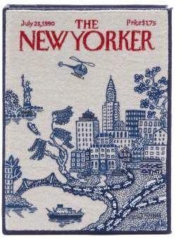 Olympia Le-Tan Olympia Le Tan The New Yorker Cotton Blend Book Clutch Bag - Womens - White Multi