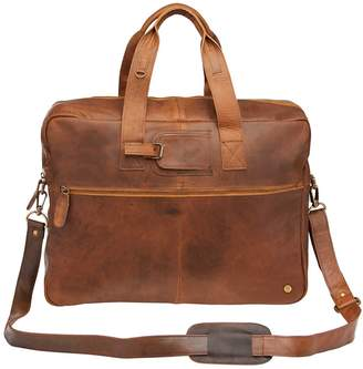 Mahi Leather Classic Leather Holdall In Vintage Brown