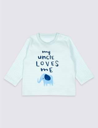 Marks and Spencer Pure Cotton My Uncle Loves Me Top