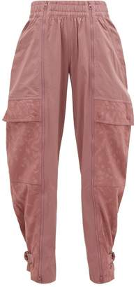 adidas by Stella McCartney Leopard Jacquard Buckled Ankle Track Pants - Womens - Pink