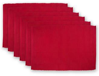 Design Import Cardinal Ribbed Placemat, Set of 6