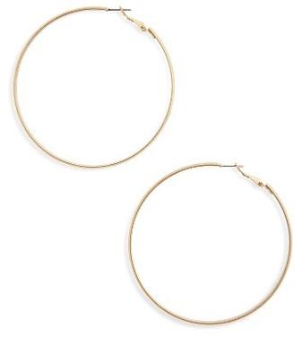 Women's Bp. Flat Hoop Earrings $12 thestylecure.com
