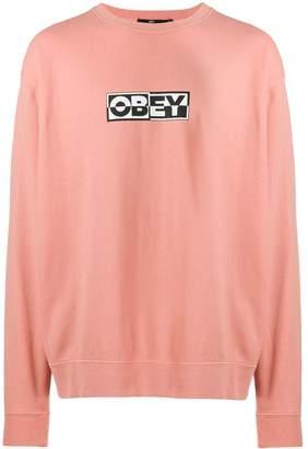 Obey contrast logo sweatshirt