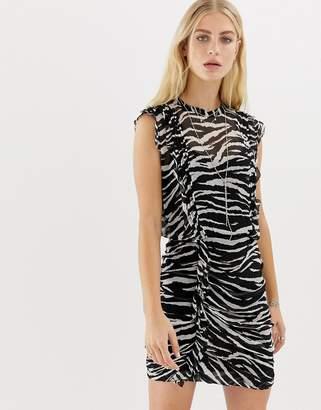 AllSaints Hali tiger mini dress