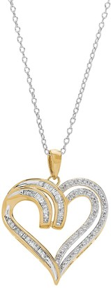 Two Hearts Forever One Two Hearts Forever 1 1/4 Carat T.W. Diamond Heart Pendant Necklace