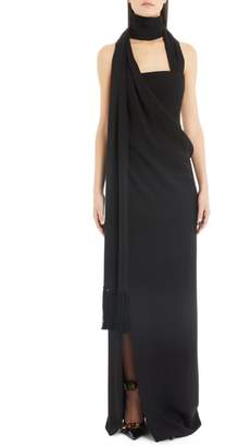 Versace First Line Side Drape Gown