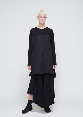 Yohji Yamamoto Long Sleeve Panel Blouse